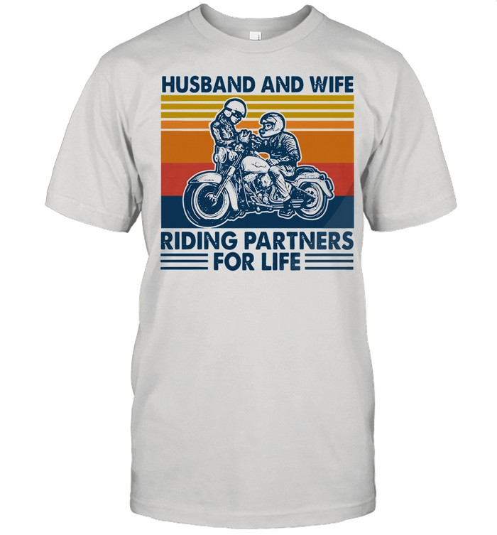 Husband And Wife Riding Partners For Life 2021 Vintage shirt Classic Men's T-shirt