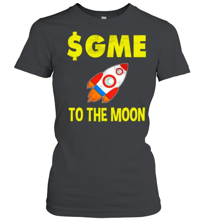 $GME To The Moon Ff GameStonk shirt Classic Women's T-shirt