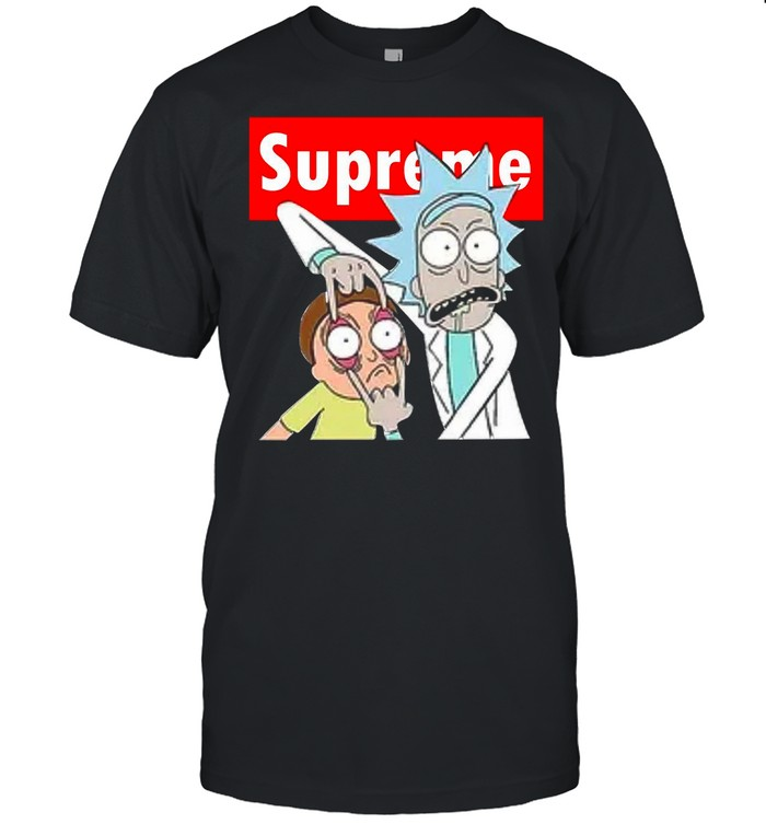 Rick And Morty With Supreme Logo 2021 shirt Classic Men's T-shirt