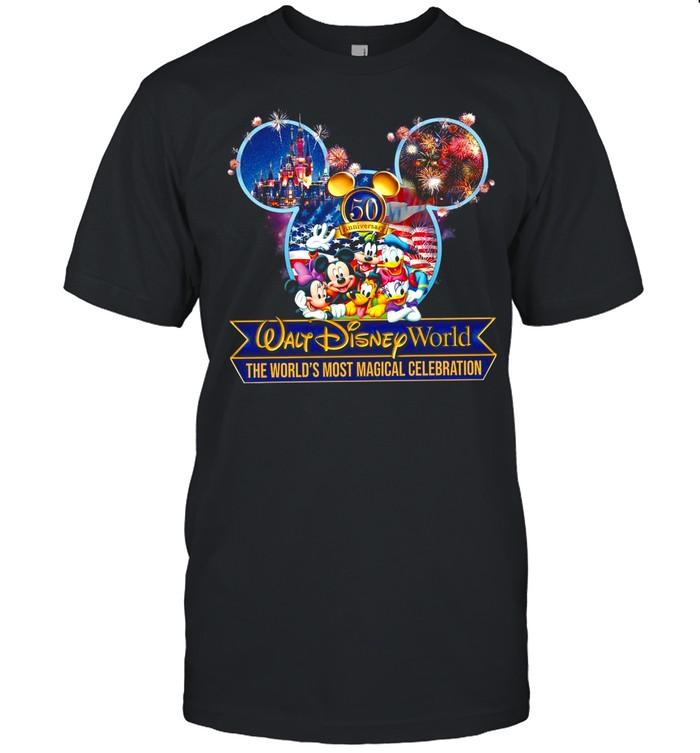 Walt Disney World The World's Most Magical Celebration 50 Years Of Magic Kingdom shirt Classic Men's T-shirt