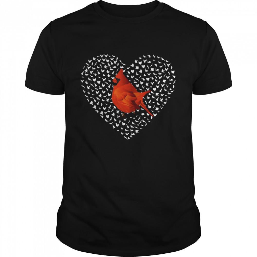 Cardinal Heart Personalized shirt Classic Men's