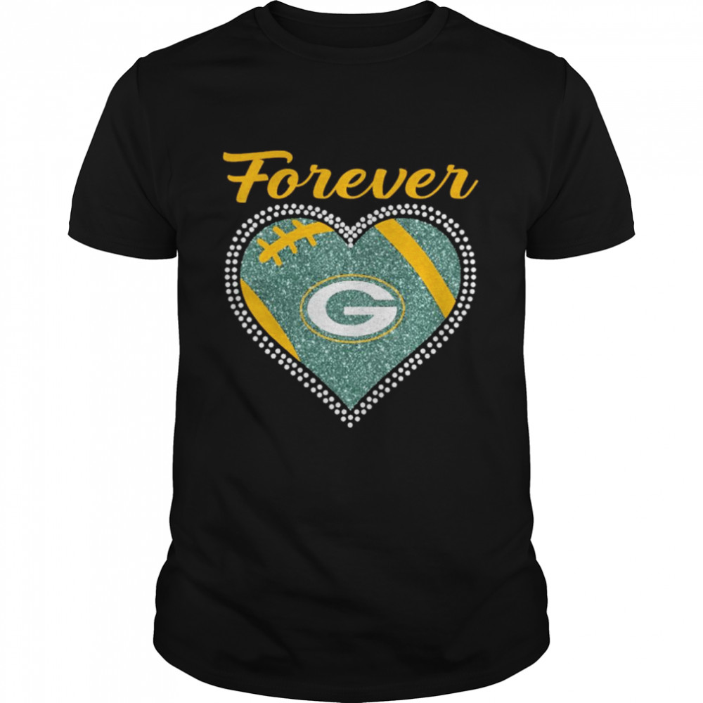 Forever Green Bay Packers Heart Diamond shirt Classic Men's