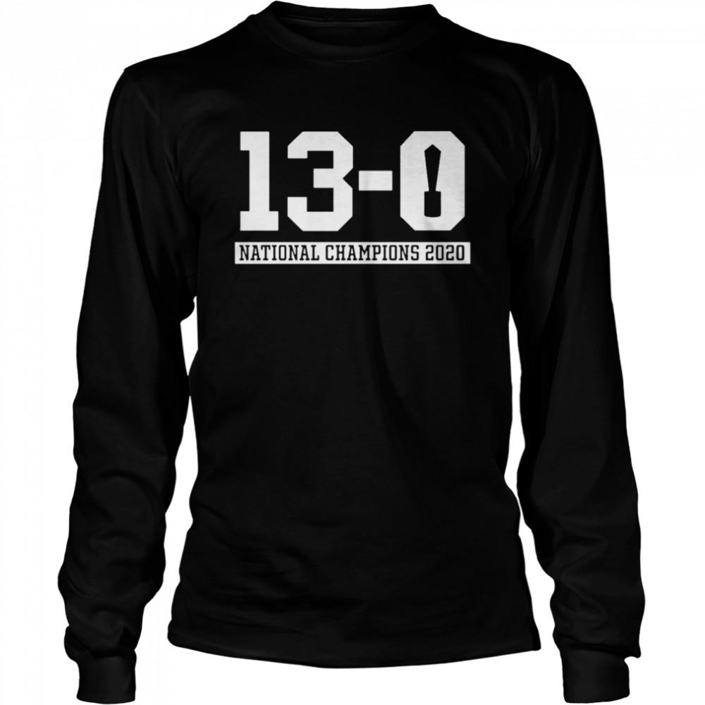 13 0 Alabama National Champions 2021  Long Sleeved