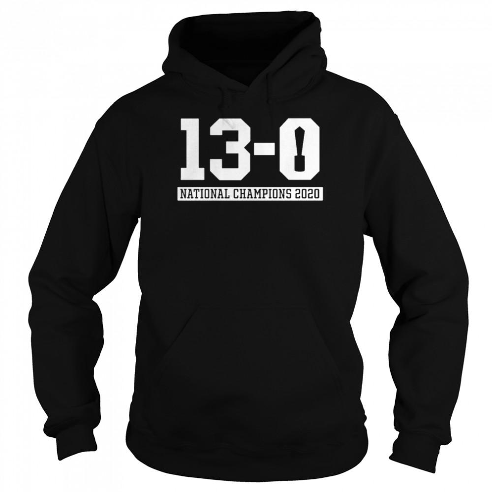 13 0 Alabama National Champions 2021  Unisex Hoodie