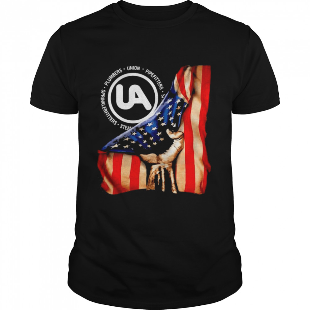 Plumbers Union Pipefitters American Flag shirt Classic Men's