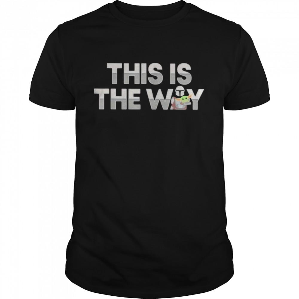 This Is The Way Baby Yoda The Mandalorian shirt Classic Men's