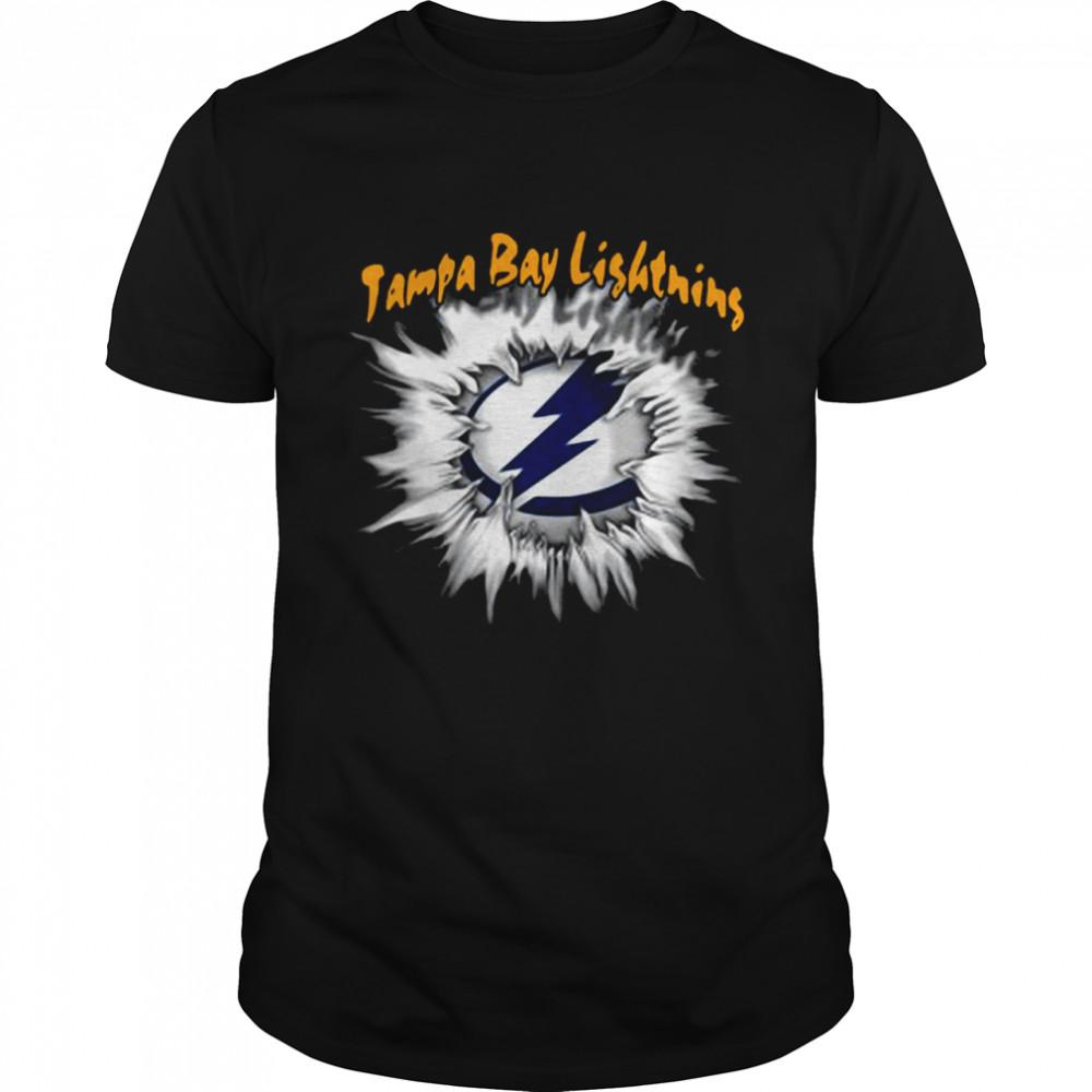 Blood inside Me Tampa Bay Lighting shirt Classic Men's