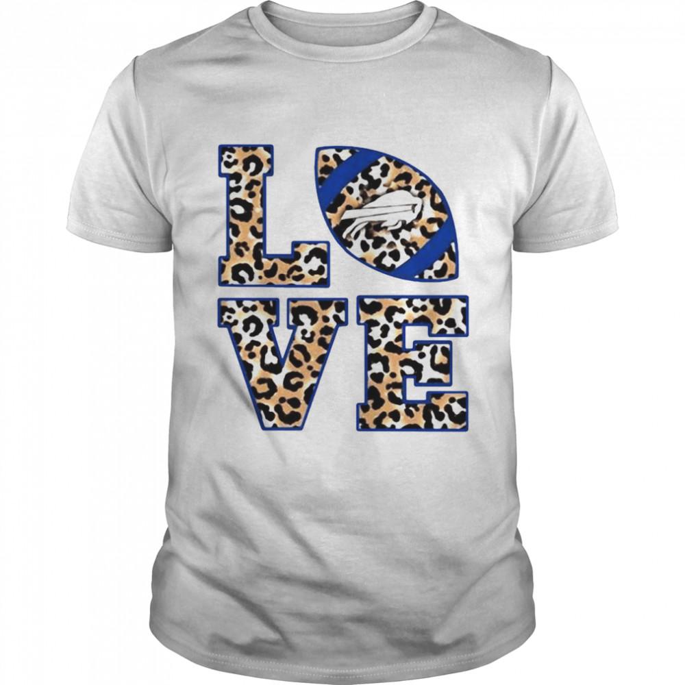 Love Buffalo Bills Football Leopard shirt Classic Men's