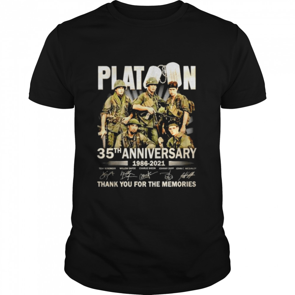 Platoon 35th anniversary 1986 2021 thank you for the memories shirt Classic Men's