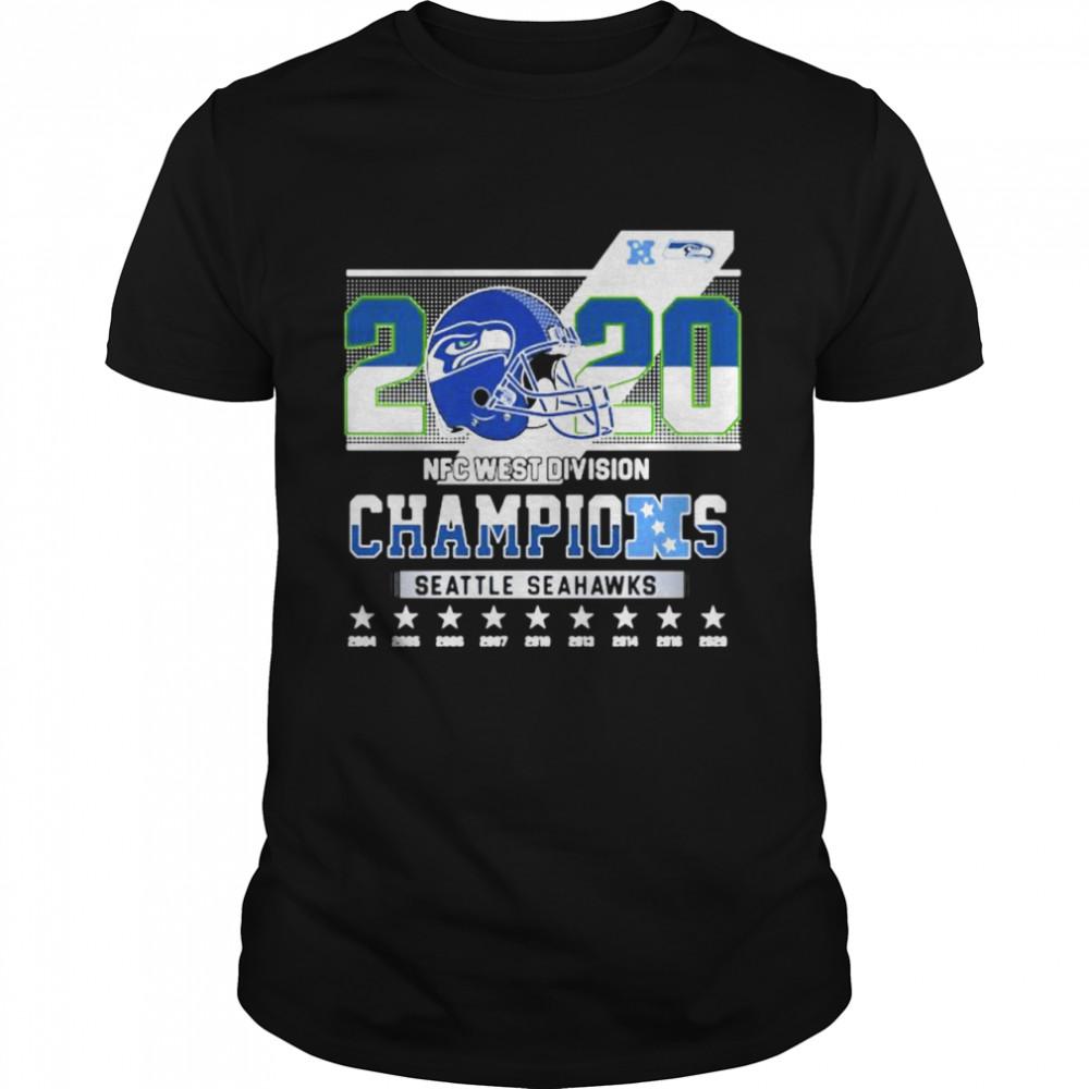 2020 Nfc West Division Champions Seatle Seahawks Stars shirt Classic Men's