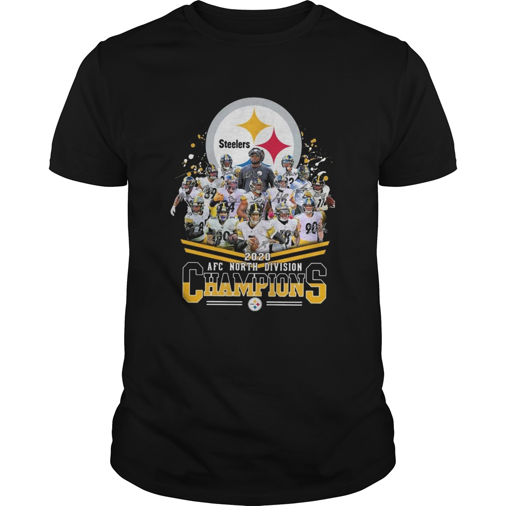 Pittsburgh Steelers 2020 AFC north division Champions signatures shirt Classic Men's