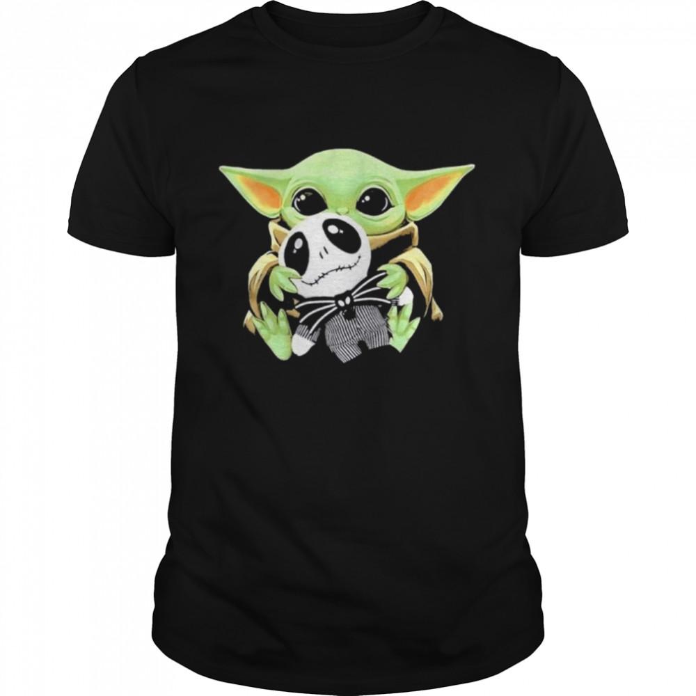 baby Yoda hug Jack Skellington shirt Classic Men's