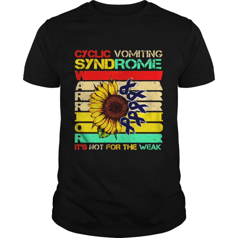 Cyclic Vomiting Syndrome Warrior It Is Not For The Weak Sunflower shirt Classic Men's