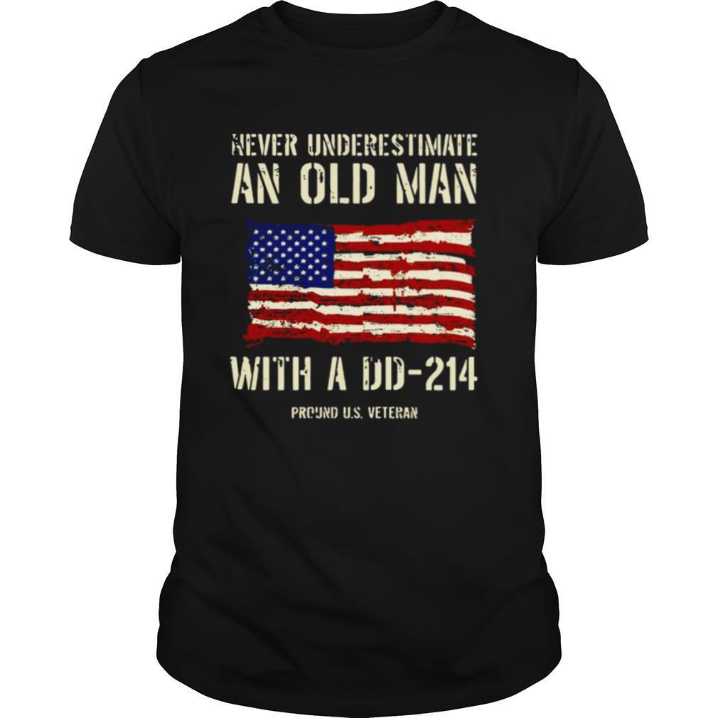 Never Underestimate An Old Man With A DD – 214 shirt Classic Men's