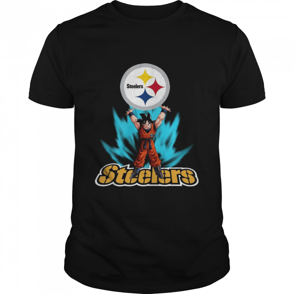 Pittsburgh Steelers Dragon Ball Songoku Super Saiyan shirt Classic Men's