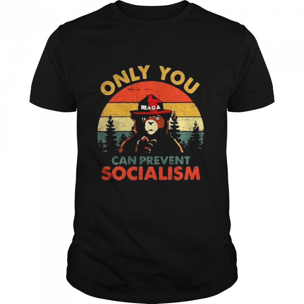 Bear Only You Can Prevent Socialism Vintage shirt Classic Men's