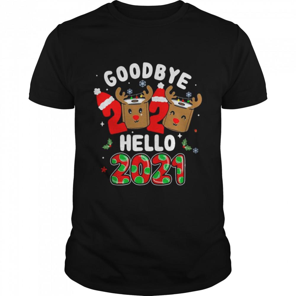 Goodbye 2020 Santa Hat Toilet Paper Reindeer Hello 2021 shirt Classic Men's