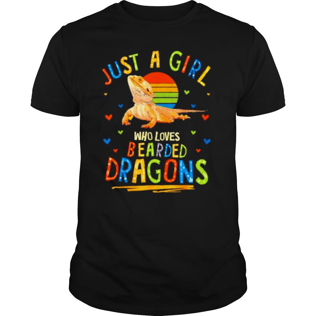 Just a girl who loves bearded Dragons vintage shirt Classic Men's