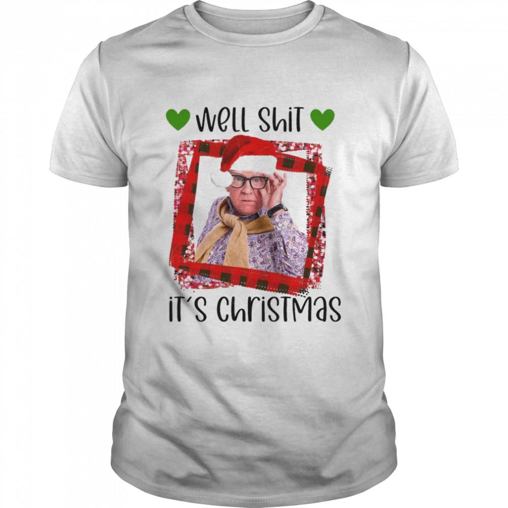 Plaid Leslie Jordan Hat Santa Well Shit It'S Christmas 2020 shirt Classic Men's