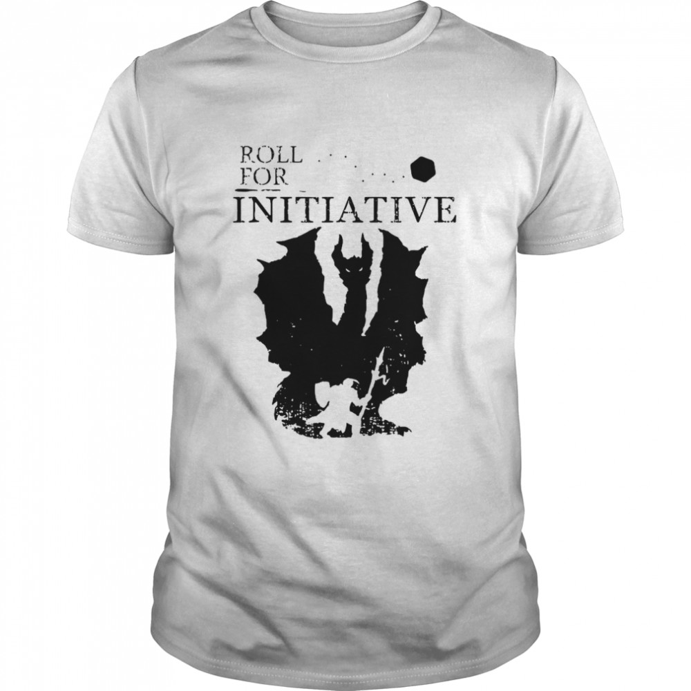 Roll For Initiative Rpg Table Top Gaming Silhouette shirt Classic Men's