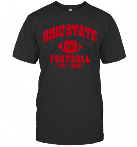State Of Ohio Est 1890 Vintage Football shirt Classic Men's