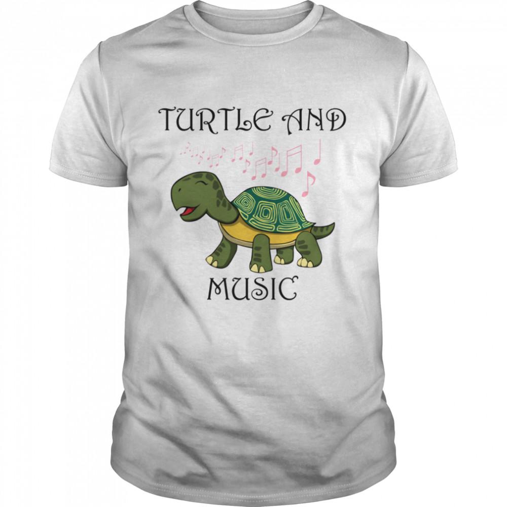 Turtle and Music Singing Tortoise Musician shirt Classic Men's
