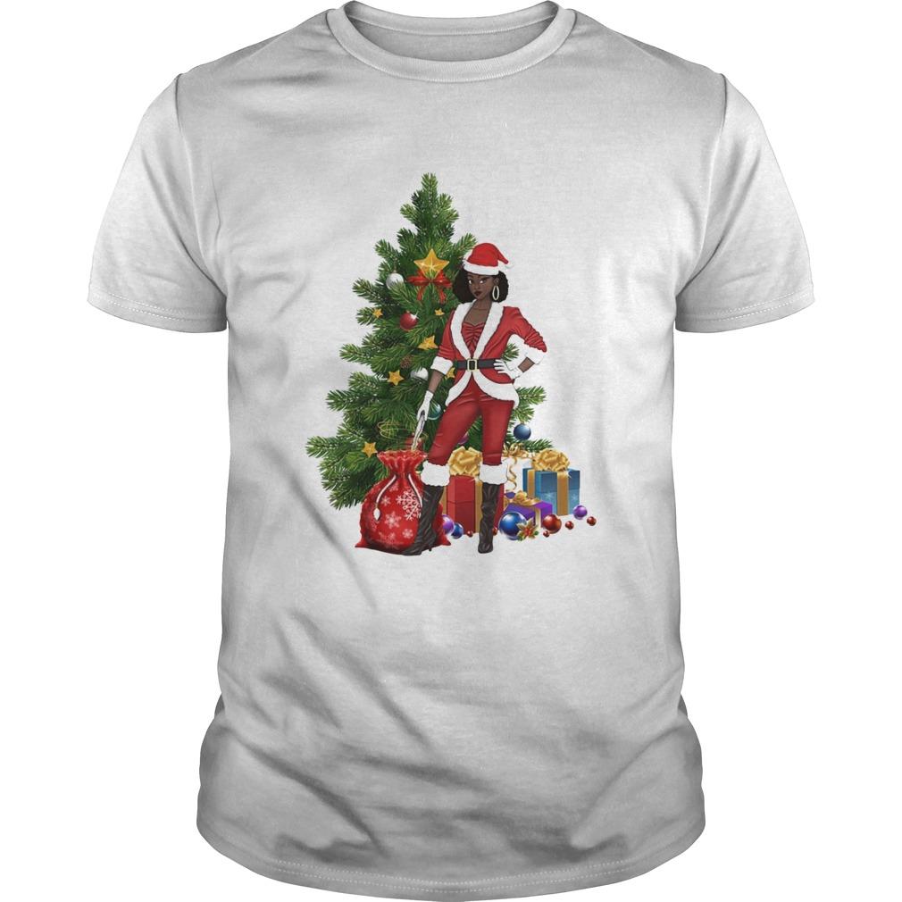 Black Women Santa Claus Style Christmas shirt Classic Men's