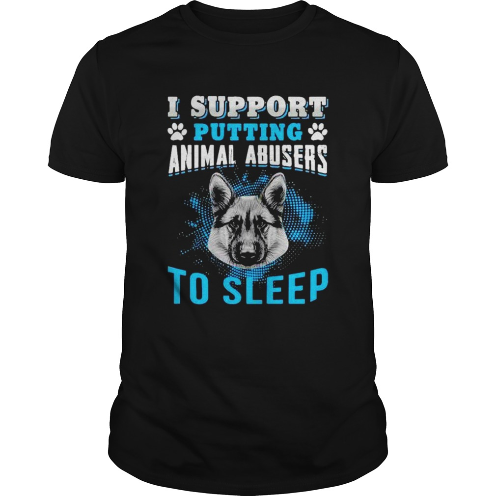 I support putting animal abusers to sleep shirt Classic Men's
