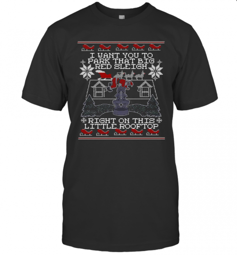 I Want You To Park That Big Red Sleigh Right On This Little Rooftop Ugly Christmas shirt Classic Men's