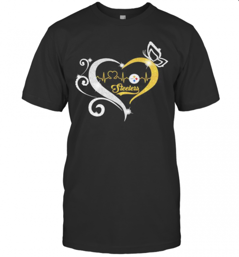 Steelers Butterflies Heart Beat shirt Classic Men's