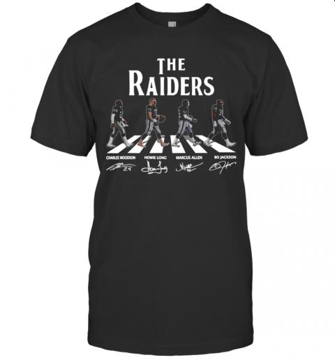 The Raiders Walks Cross The Street And Signature shirt Classic Men's