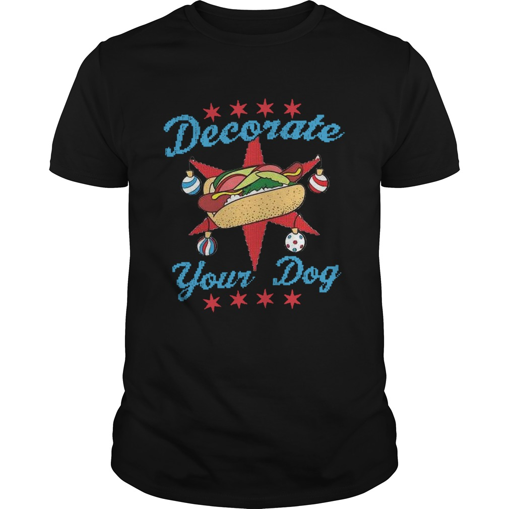 Decorate Your Dog Ugly Xmas shirt Classic Men's