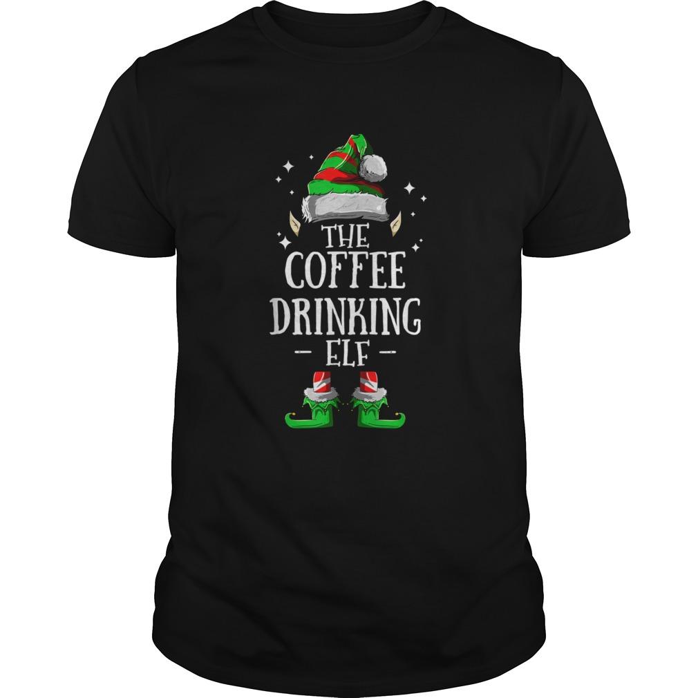 The Coffee Drinking Elf Christmas Pajama shirt Classic Men's