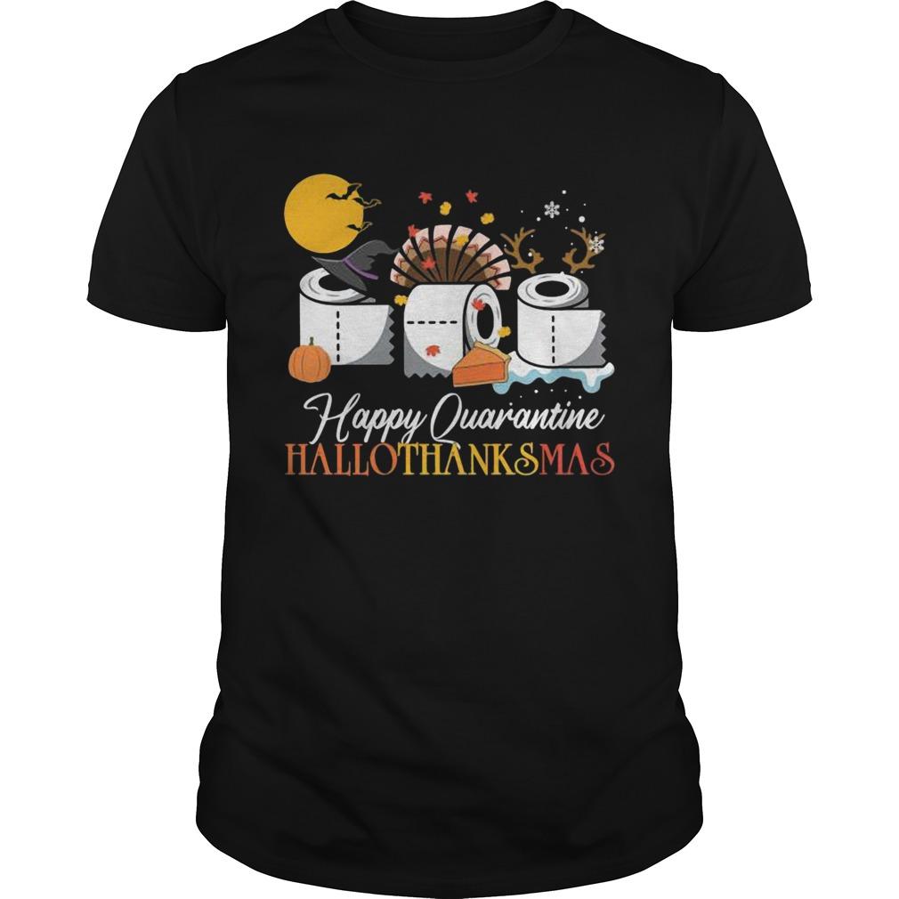 Hallothanksmas Happy Quarantine 2020 Thanksgiving Moon Hat Witch Paper Toilet shirt Classic Men's