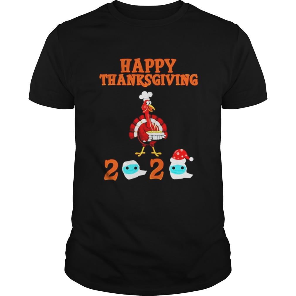 Happy Thanksgiving 2020 Turkey Face Mask Quarantine shirt Classic Men's