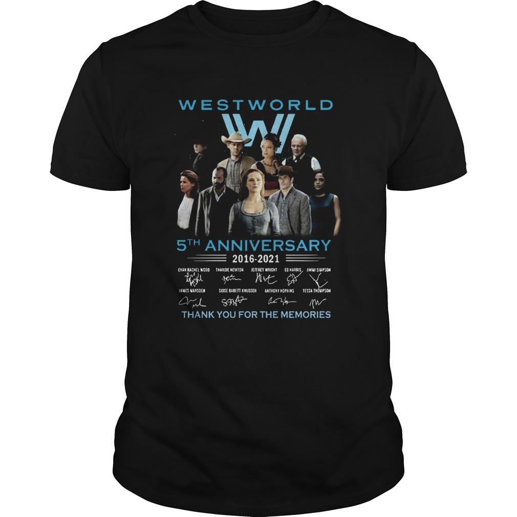 West World 5th Anniversary 2016 2021 Evan Rachel Wood Thandie Newton Jeffrey Wright Thank You For shirt Classic Men's
