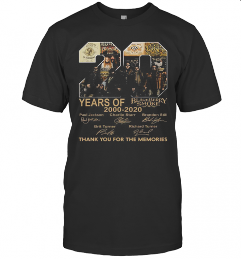 20 Years Of 2000 2020 Black Berry Smoke Thank You For The Memories shirt Classic Men's