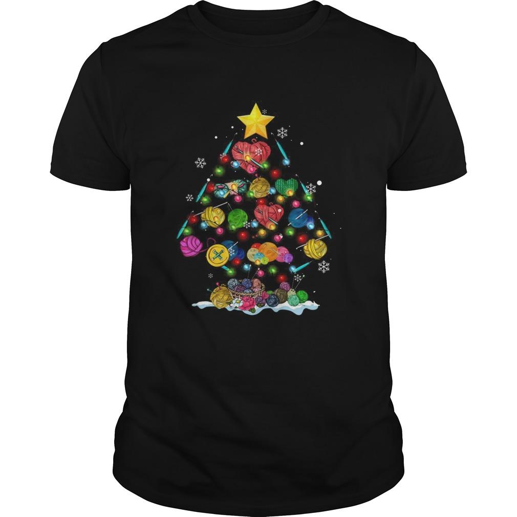 Crochet Tree Merry Christmas shirt Classic Men's