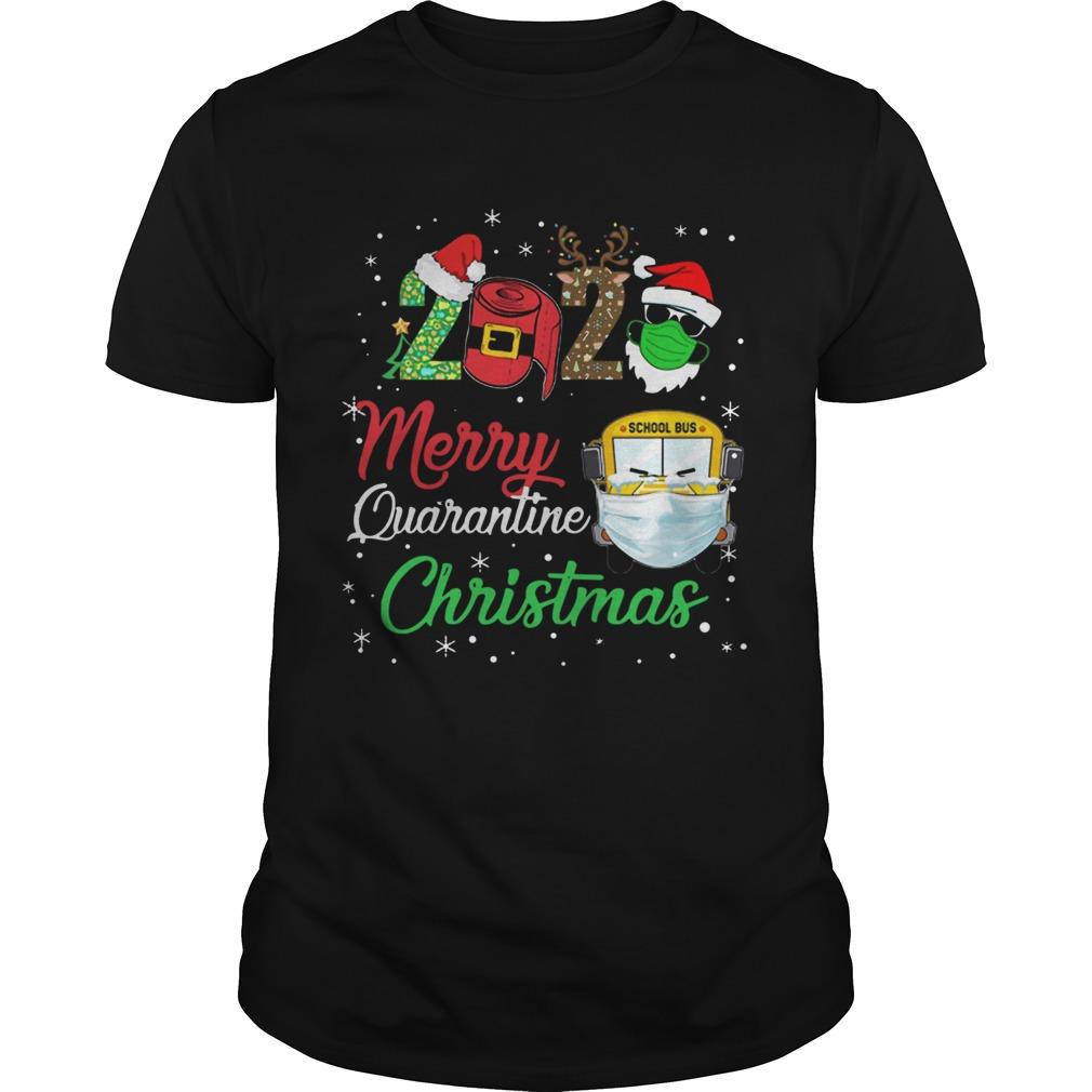 2020 Merry Quarantine Christmas School Bus Face Mask shirt Classic Men's