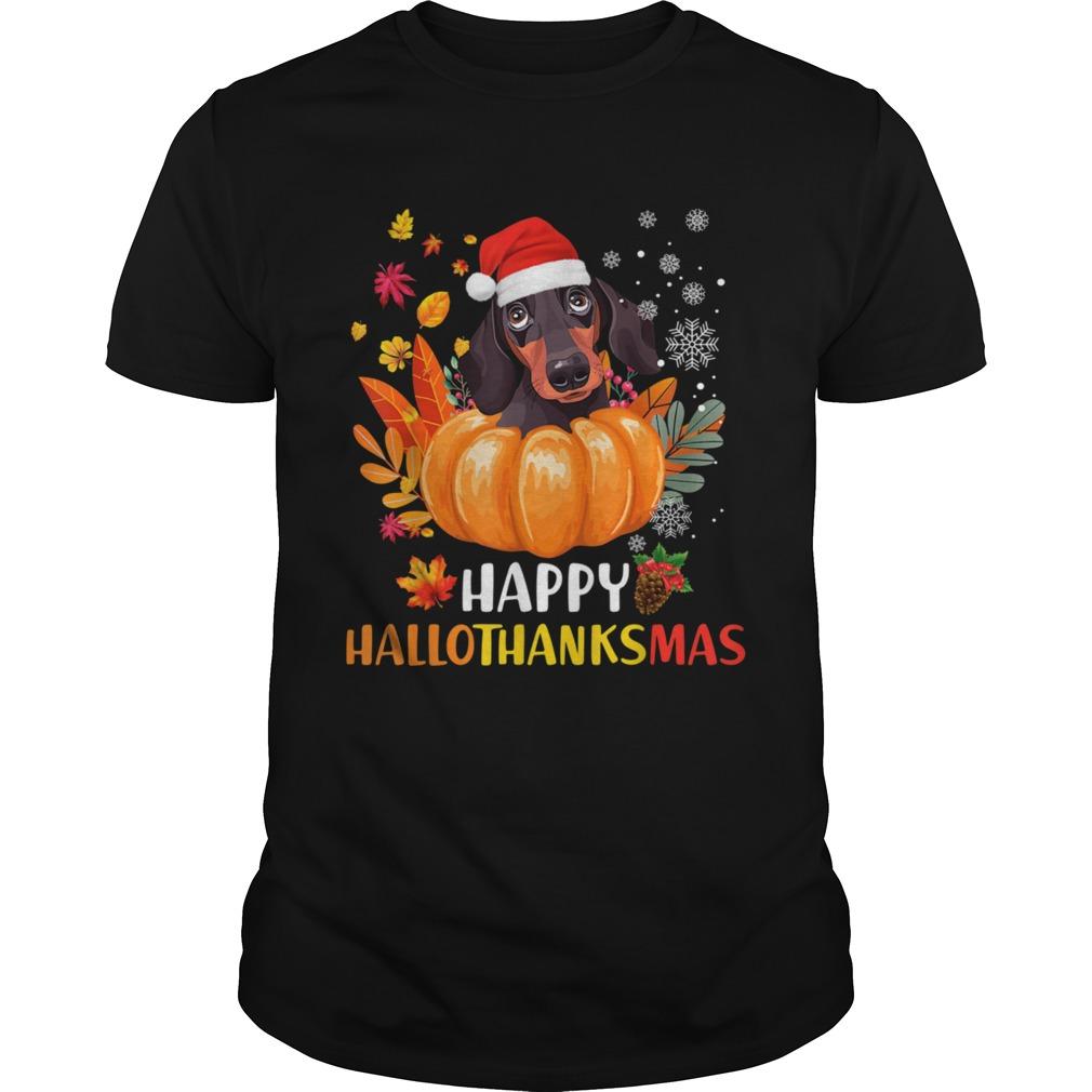 Dachshund Hallothanksmas shirt Classic Men's