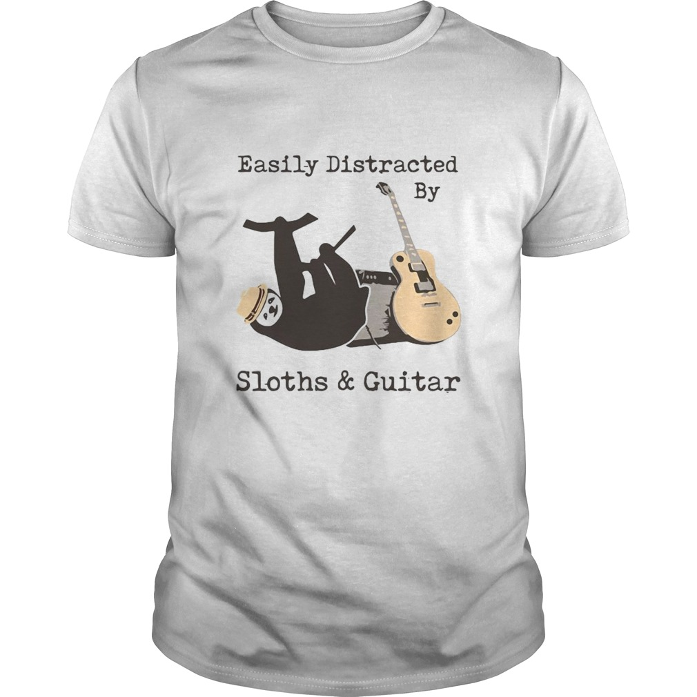 Easily Distracted By Sloths And Guitar shirt Classic Men's