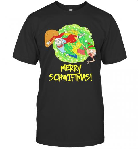 Rick And Morty Santa Merry Schwiftmas Christmas shirt Classic Men's