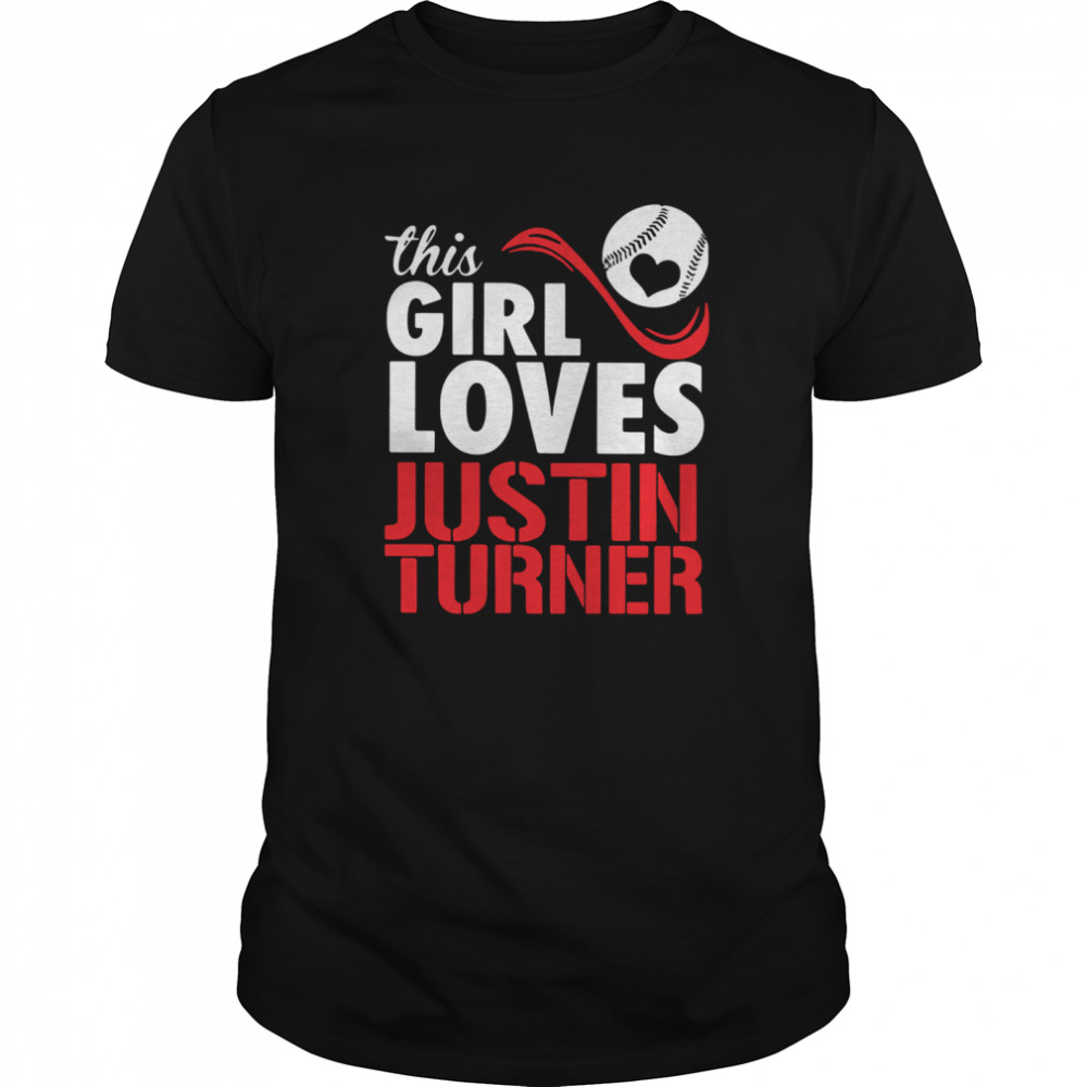 Baseball This Girl Loves Justin Turner shirt Classic Men's