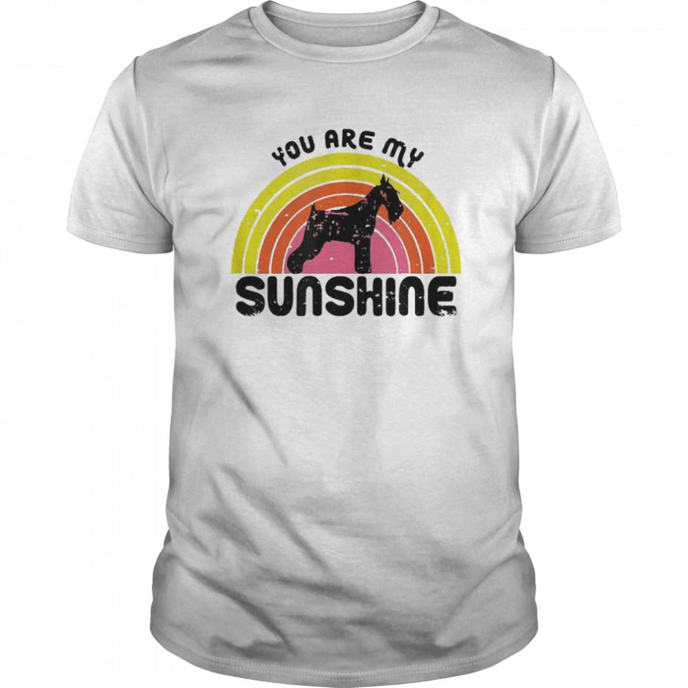 Schnauzer Rainbow You Are My Sunshine shirt Classic Men's