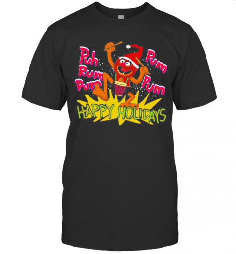 The Muppets Drummer Puh Rum Pum Happy Holiday shirt Classic Men's