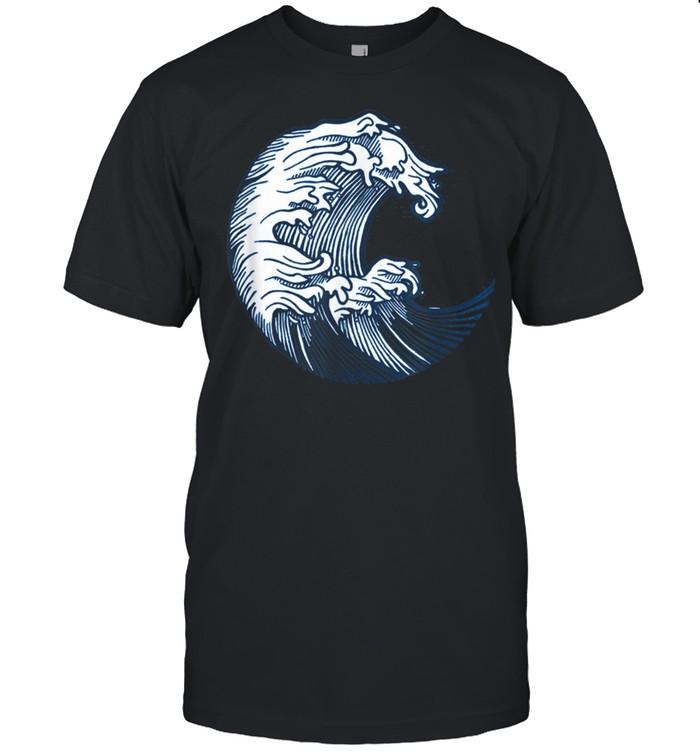 Big Waves Ocean Japanese Kanagawa Art Nature Sea shirt Classic Men's T-shirt