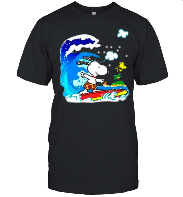 Snoopy Woodstock Surfing In Vacation 2021 shirt Classic Men's T-shirt