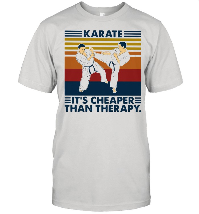 Karate It's Cheaper Than Therapy Vintage shirt Classic Men's T-shirt