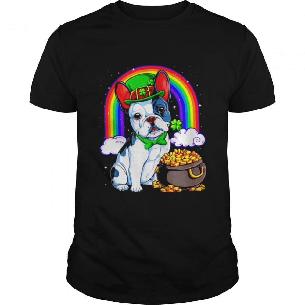 Bulldog rainbow bridge St Patrick's Day shirt Classic Men's
