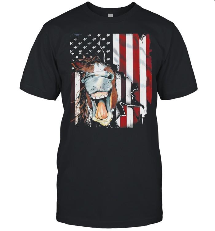 American Horse Face Flag  Classic Men's T-shirt